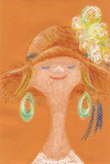 chuwaの庭-麦わら帽子