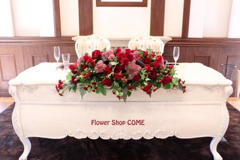 かっこいい 結婚式 花 バラ