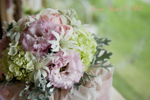ブーケ風花束 かわいい花束