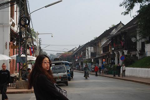 王宮前の道路