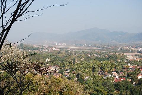 ルアンパバーンの街が見える