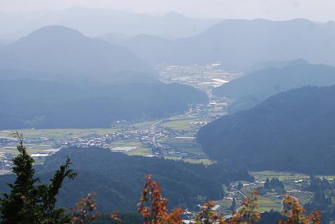 富士見台から津具村全景を