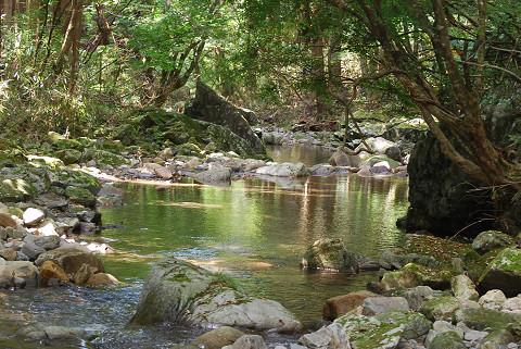 神越川の渓谷