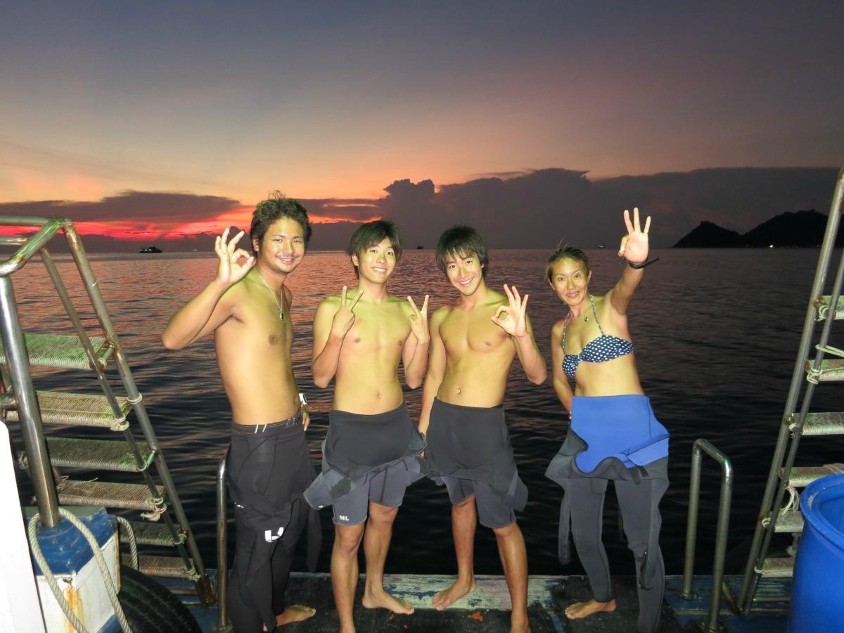 タオ島 ナイトダイビング