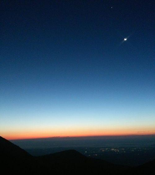 那須町の夜明け