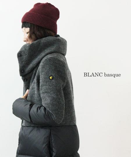 blanc basque / ブランバスク ソフトメルトンダウンコート