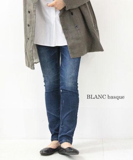 blanc basque / ブランバスク インディゴ裏毛ストレッチパンツ