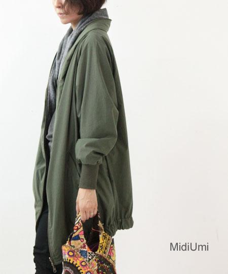 MidiUmi / ミディウミ ジップリバーシブルブルゾン
