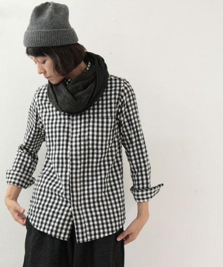 nisica / ニシカ ネルチェックボタンダウンシャツ
