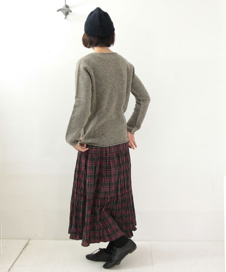 NOR'EASTERLY / ノア イースターリー L/S WIDE NECK SWEATER