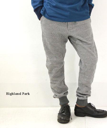 Highland Park / ハイランドパーク キルトブレスサーモ裏毛パンツ