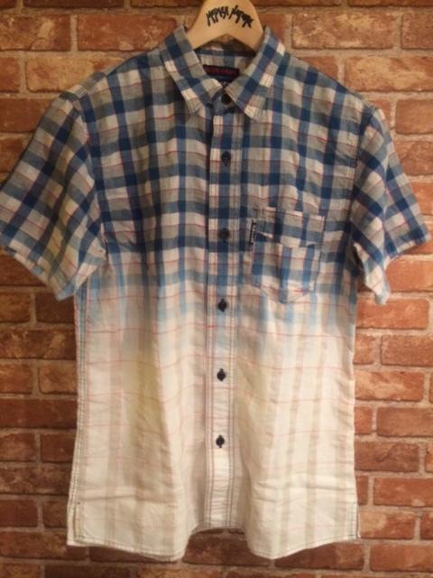 BB インディゴCHK半袖ワークシャツ3