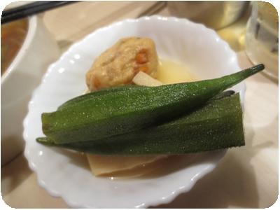 がんもとオクラの煮物(100円)