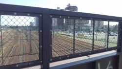 歩道橋から見た景色
