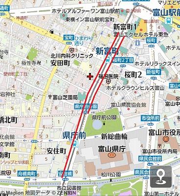 富山自転車ナビライン設置MAP2