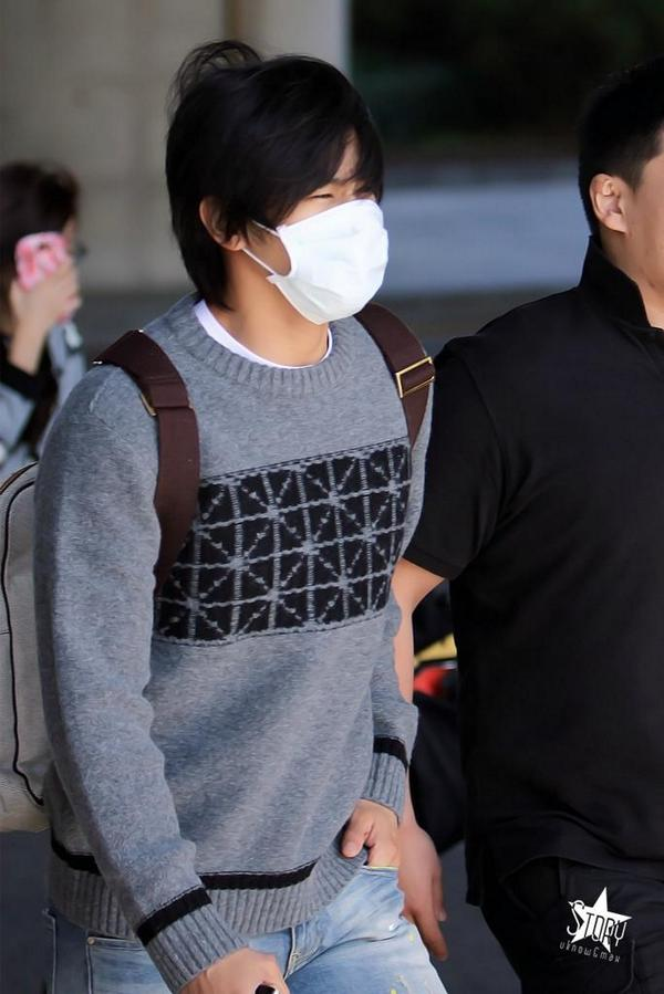 141006 at Inchon airportゆの帰る2
