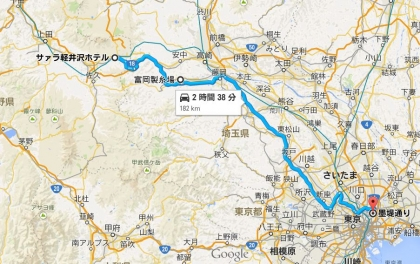 軽井沢→自宅