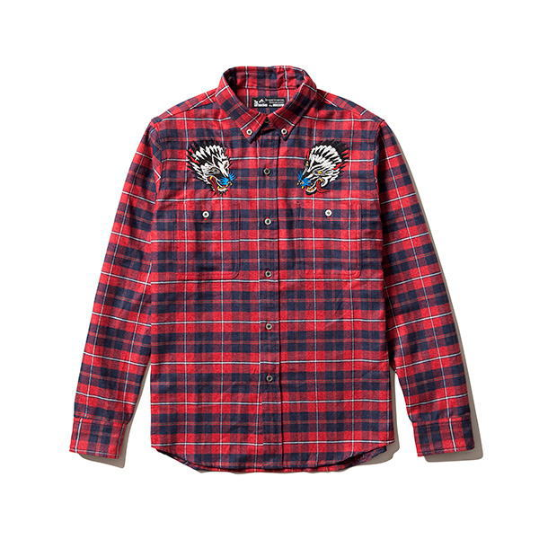 SOFTMACHINE WOLF HEADS FLANNEL