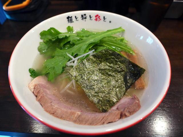 麺屋彩々 なんば店@01清澄塩らーめん 1