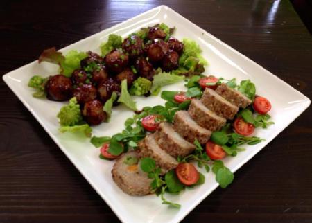 変換 ~ レンコン団子、野菜たっぷりミートローフ