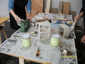 塗装作業中②