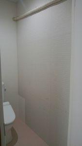 トイレ壁塗①
