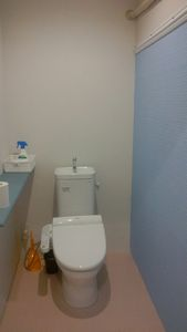 トイレ壁塗③
