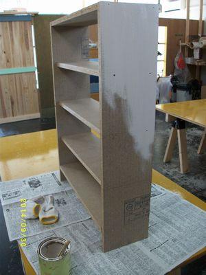 本棚塗装 本体
