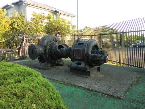 有馬浄水場・旧送水ポンプ