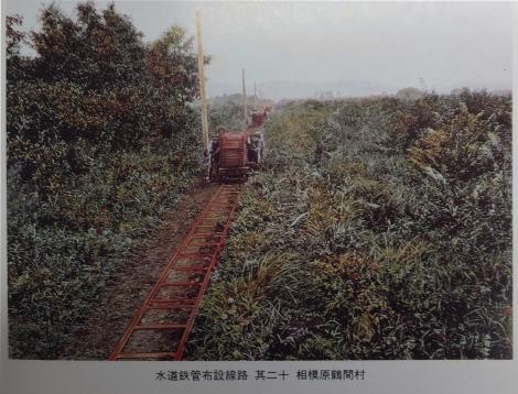 水道鉄管布設線路 其二十 相模原鶴間村