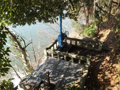 烏山用水取水口跡