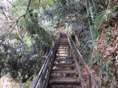 清水下頭首工・昇降階段