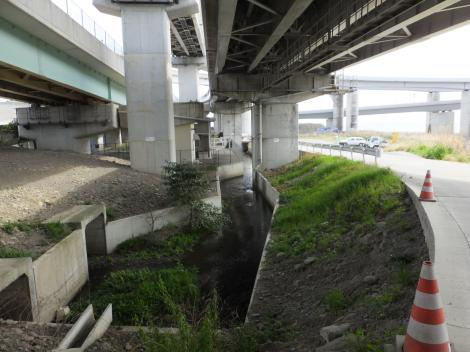 小田原用水終点付近