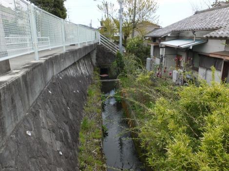 松田用水・城光沢バス停付近