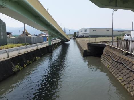鬼柳堰・R255新明橋付近
