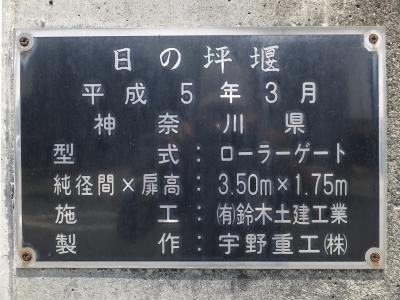 酒匂堰・日の坪堰銘板