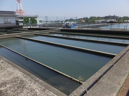 寒川浄水場・フロック形成池