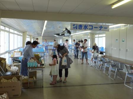 寒川浄水場・利き水コーナー