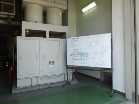 寒川浄水場・非常用予備発電機