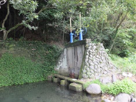 仙台下頭首工・取水口