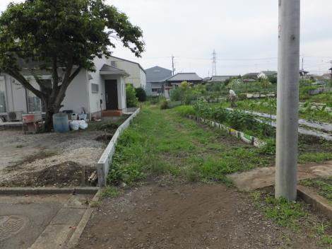野水路終点・田名北小北東側