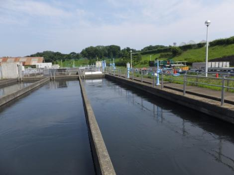 小雀浄水場3系沈澱池