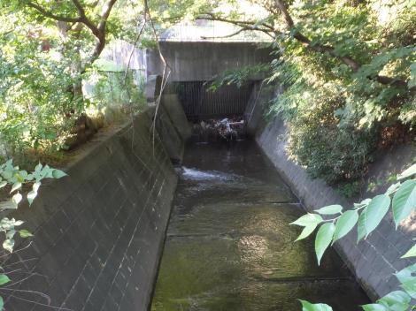 烏山用水流末・雨水管吐口