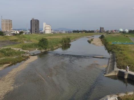 三階橋より矢田川上流を望む