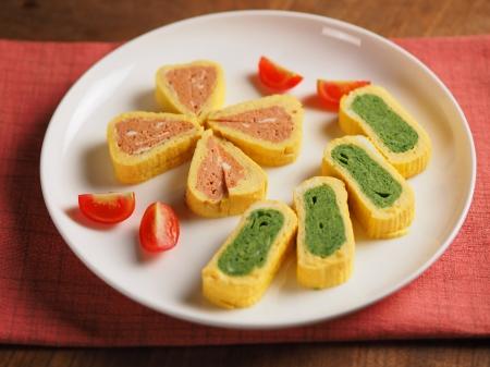 トマトとほうれん草の玉子焼き02