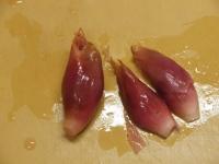 水晶鶏の刺身風甘酢茗荷28