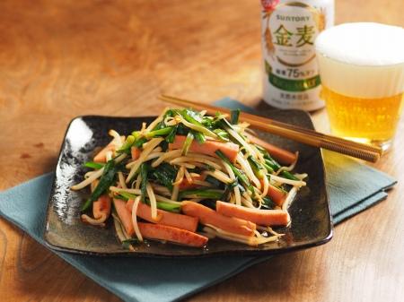 ニラと魚肉ソーセージのピリ辛10
