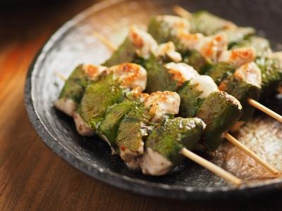 鶏むね肉の梅肉大葉焼き10