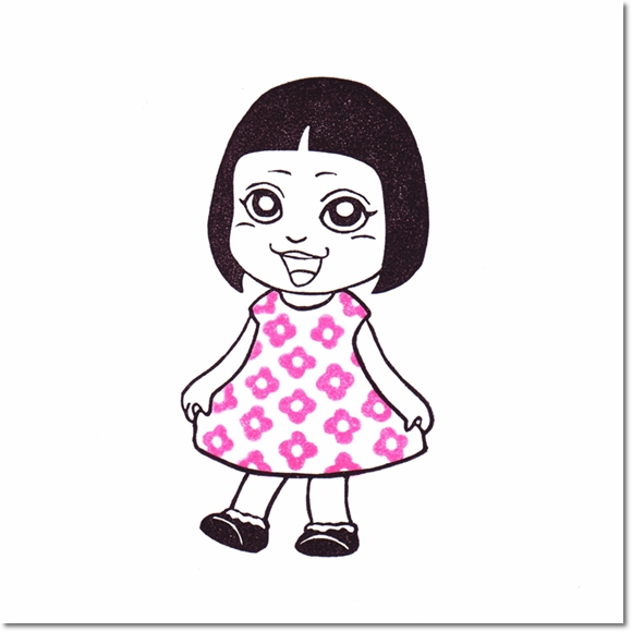 テラピィの乙女はんこ☆きせかえサキ 花柄編♪の巻