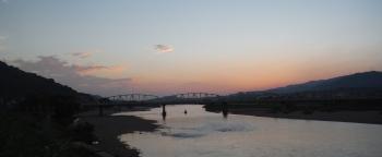 紀ノ川の夕陽
